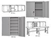 WALL / BENCH STORAGE CABINETS